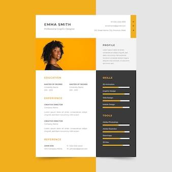 Curriculum vitae in minimalist design
