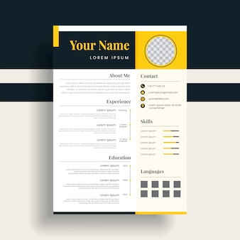 Curriculum vitae template, a combination of black and white looks elegant