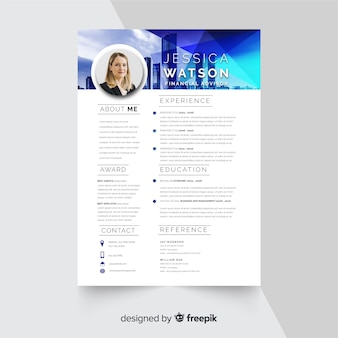 Curriculum vitae template with photo