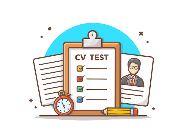 Curriculum vitae test vector  illustration