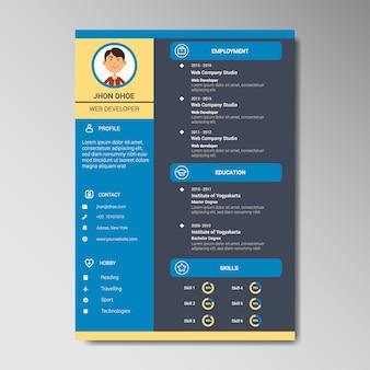 Дизайн шаблона curriculum