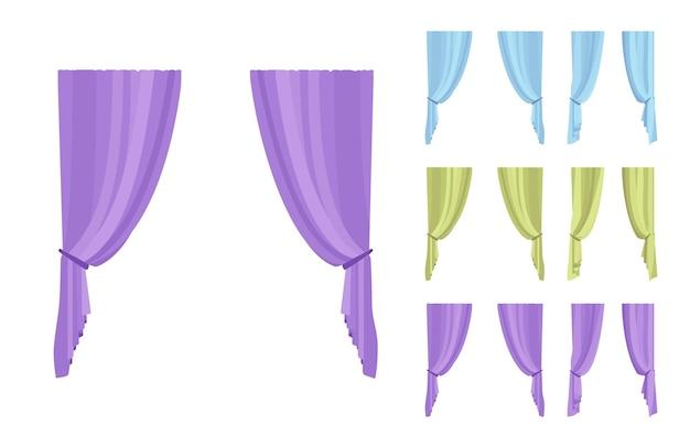 Комплект штор и драпировки