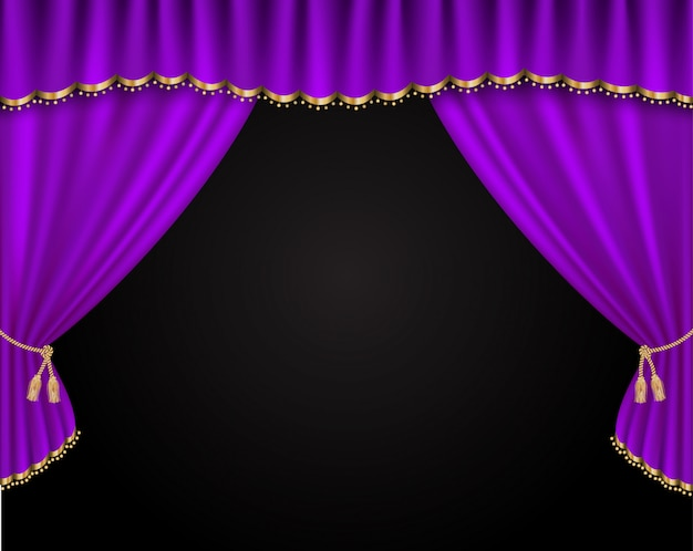 Curtain vector realistic illustration