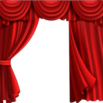 Curtain with drape stage illustration