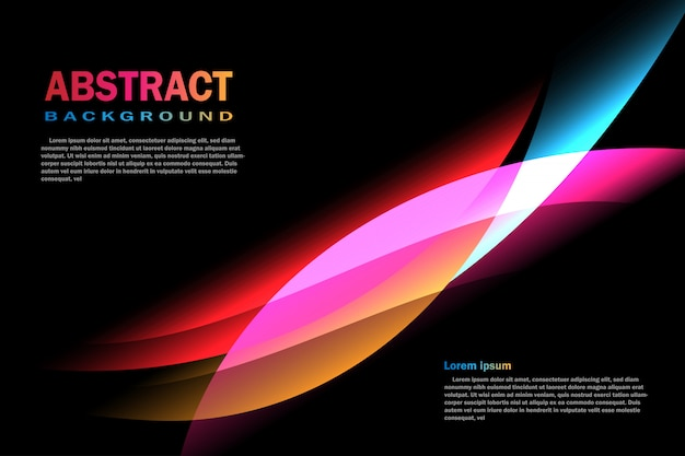 Curve abstract background template