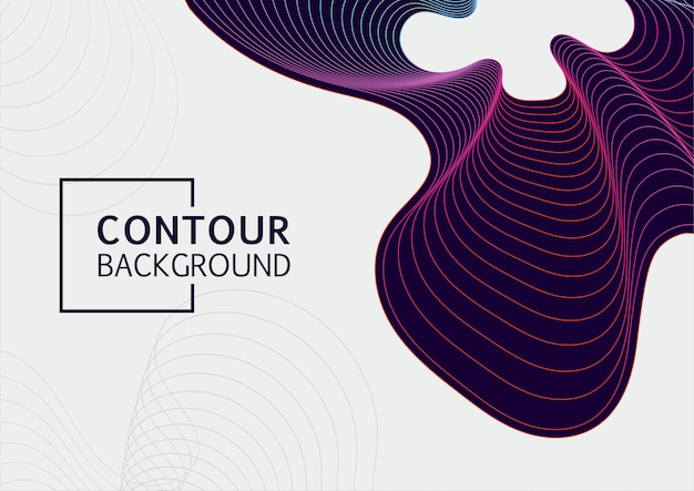 Curve abstract background