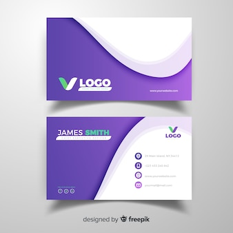 Curve business card