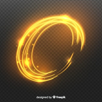 Curve light effect realistic style