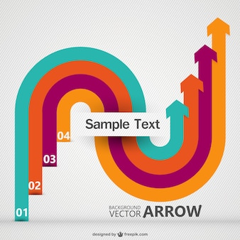 Curved arrows background