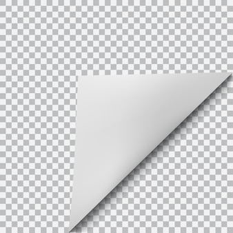 Curved corner of paper with shadow