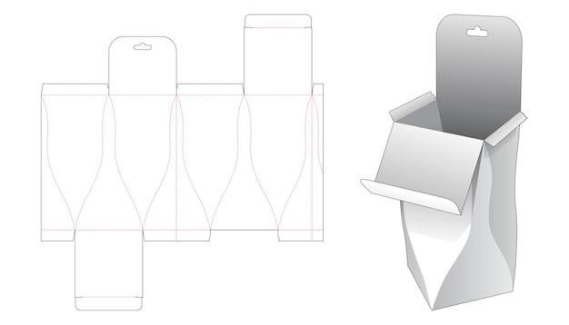 Изогнутая откидная упаковочная коробка с высеченным шаблоном для подвешивания