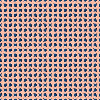 Curved geometric seamless pattern