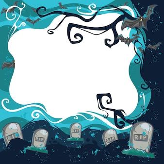 Изогнутые тыквы и призраки хэллоуин фон