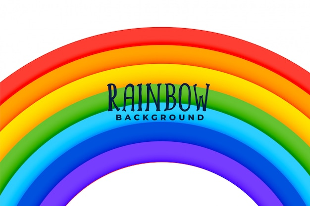Curved rainbow colorful background