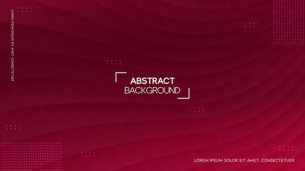Curved red stripe background with geometric style