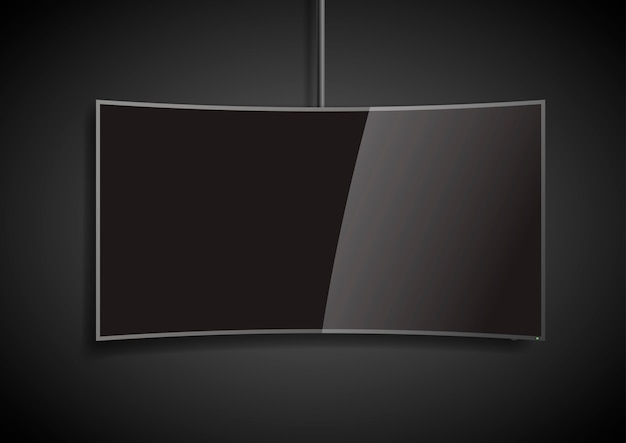 Curved screen smart tv