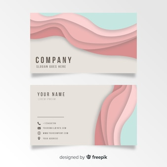 Curved shapes business card template