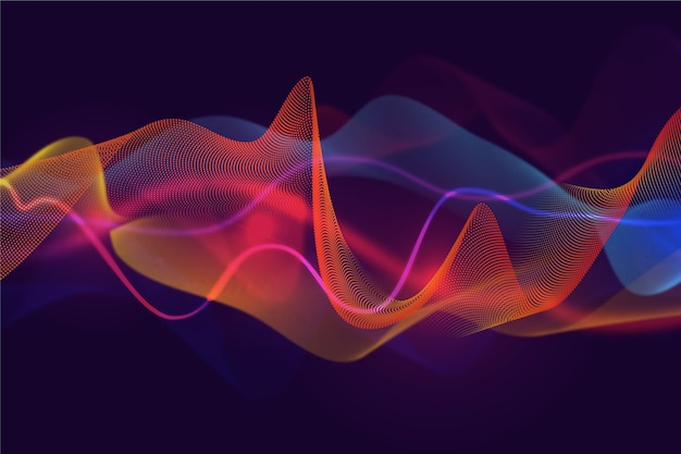 Curvy background layers of sound waves
