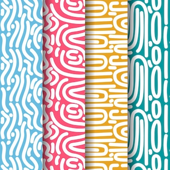 Curvy lines seamless pattern template