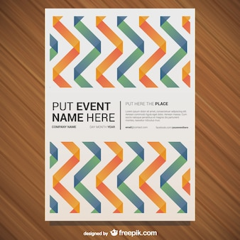 Curvy orange and green lines event poster