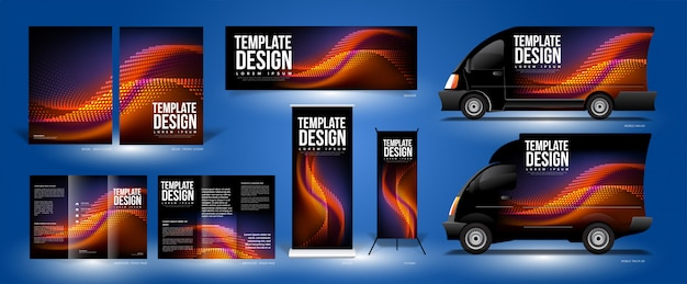 Curvy particles template design