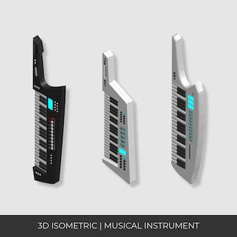 맞춤형 3d 아이소 메트릭 기타 키보드 세트