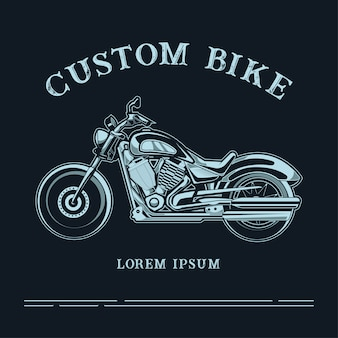 Custom bike logo illustration with text