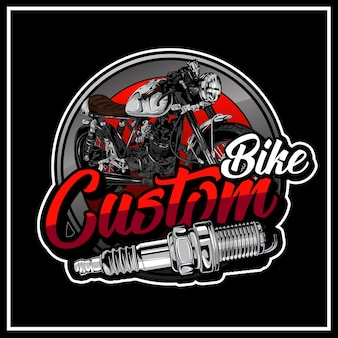 Custom bike logo