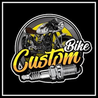 Custom bike logo