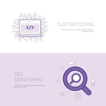 Custom coding and seo monitoring template banner