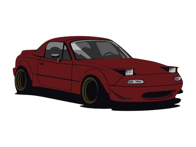 Custom dark red car