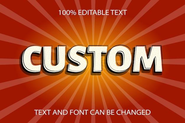 Custom editable text effect vintage style