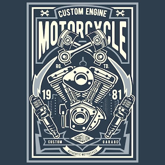 Custom engine мотоцикл
