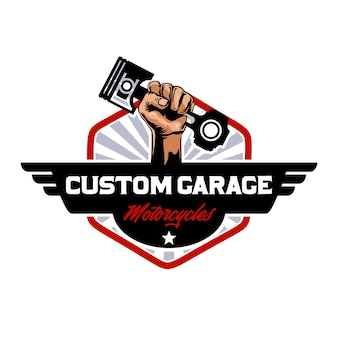 Изготовленный на заказ логотип мотоциклов гаража