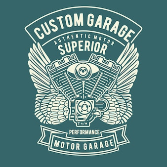 Custom garage wing
