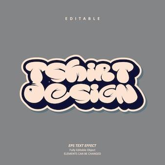 Custom grafitti design text effect editable premium premium vector