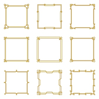 Custom infinite square line frame