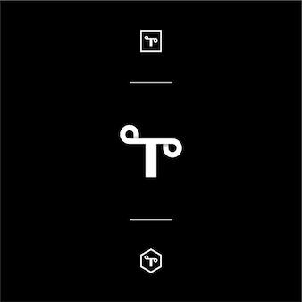 Custom letter mark t whit style monogram