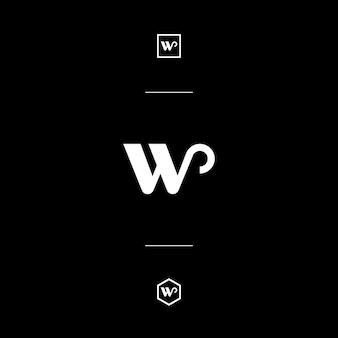 Custom letter mark w whit style monogram