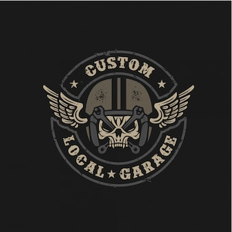 Custom local garage badge retro design