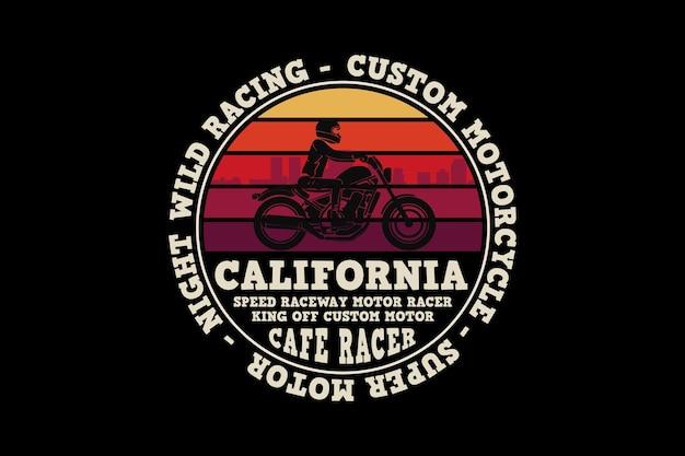 Custom motor california, design sleety retro style.
