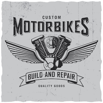 Custom motorbikes label
