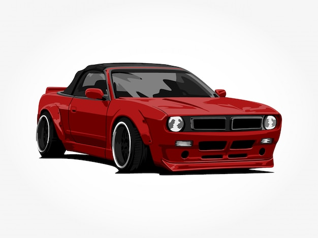 Custom red car