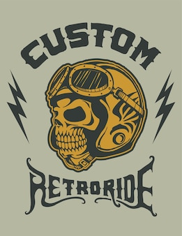 Custom ride helmet