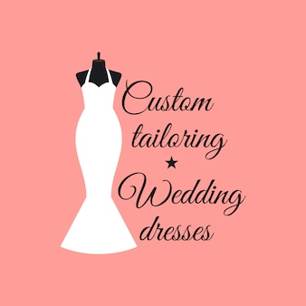 Custom tailoring wedding dresses logo