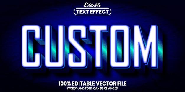 Custom text, font style editable text effect