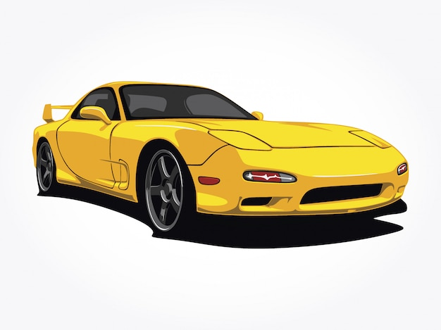 Custom yellow car  illustration