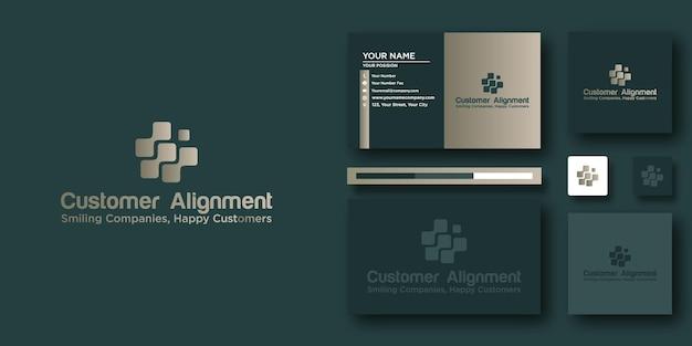 Шаблон логотипа customer alignment с современной концепцией