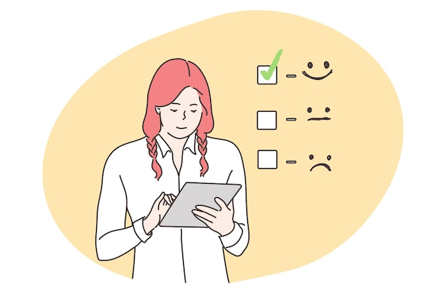 Customer assessment, business, feedback concept.