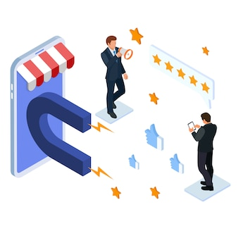 Customer engagement for like or star